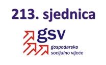Najava održavanja i dnevni red 213. sjednice Gospodarsko-socijalnog vijeća