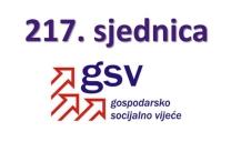 Najava održavanja i dnevni red 217. sjednice Gospodarsko-socijalnog vijeća