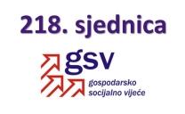Najava održavanja i dnevni red 218. sjednice Gospodarsko-socijalnog vijeća
