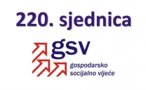 Najava održavanja i dnevni red 220. sjednice Gospodarsko-socijalnog vijeća