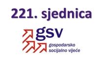 Najava održavanja i dnevni red 221. sjednice Gospodarsko-socijalnog vijeća