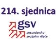 Najava održavanja i dnevni red 214. sjednice Gospodarsko-socijalnog vijeća