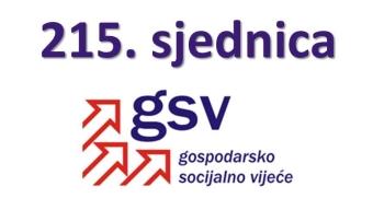 Najava održavanja i dnevni red 215. sjednice Gospodarsko-socijalnog vijeća