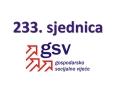 233. (dopisna) sjednica Gospodarsko-socijalnog vijeća (9. travnja 2021.)